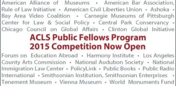 The Forum is Selected as a Host Organization for the ACLS Public Fellows Program