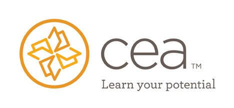 "CEA Study Abroad logo. ""CEA (TM) Learn your potential."""