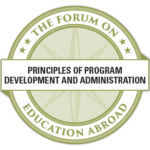 Principles of Program Development and Administration Competency