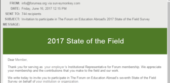 2017 State of the Field Survey is now open