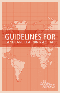 Cover of the Guidelines for Language Learning Abroad