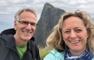 Professors Jennifer Harrison and Timothy Palmer of Western Michigan University on location in India