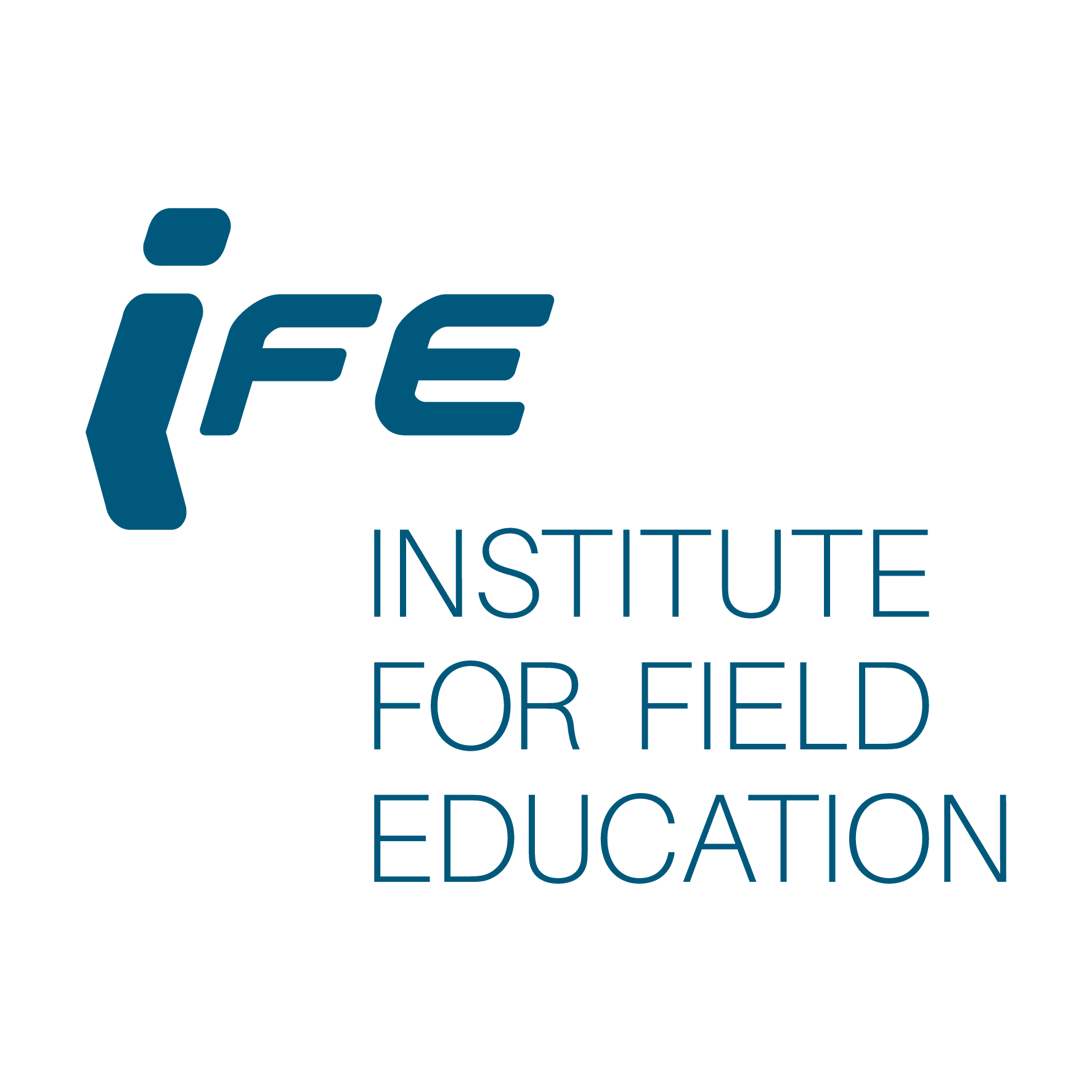 IFE logo features IFE in thick, blue, stylized letters in the top left corner with the words INSTITUTE FOR FIELD EDUCATION in thin blue lettering below and to the right.