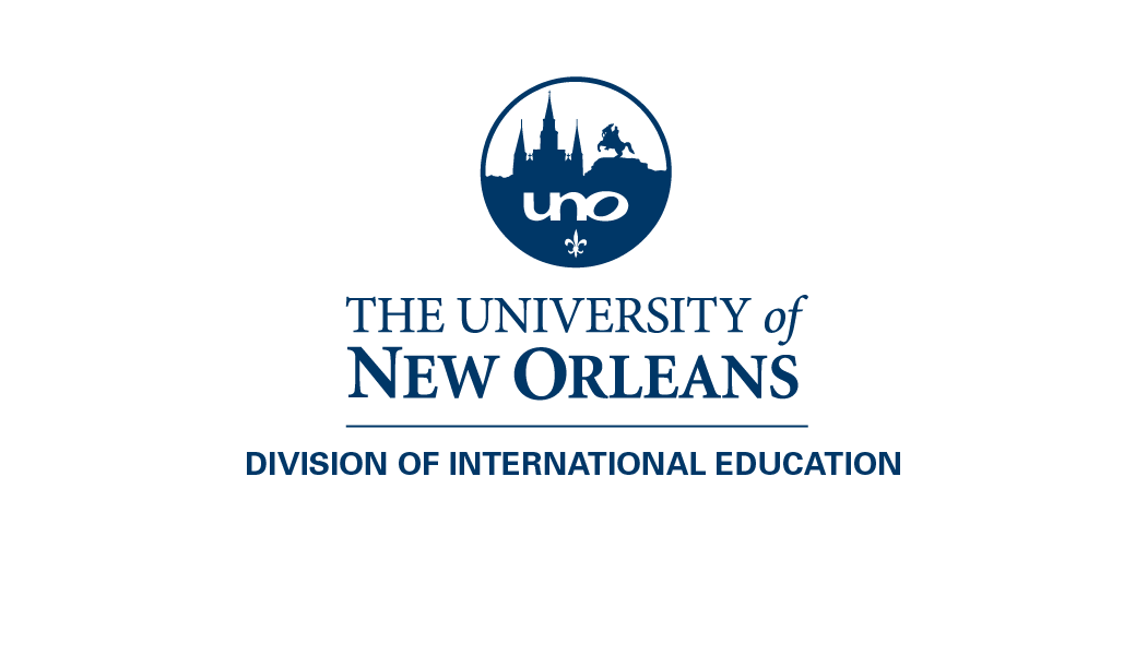 The University of New Orleans Division of International Education logo