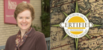 New Certified professional, Margaret Kowalsky of King's College