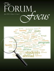 Cover of the June 2019 issue of The Forum Focus, Volume 5, Issue 3