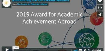 The Forum Announces Winners of the 2019 Award for Academic Achievement Abroad
