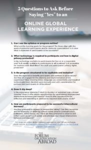 5 Questions to Ask Before Saying Yes to an Online Global Learning Experience