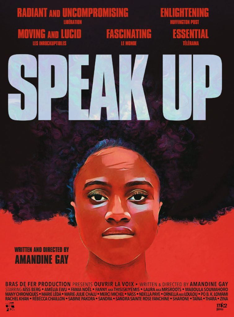 Speak Up poster, written and directed by Amandine Gay