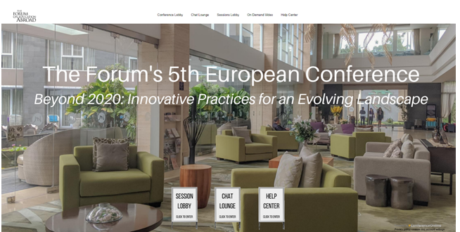 Virtual lobby of the 5th European Conference